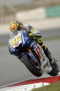Valentino Rossi will start the Malaysian Grand Prix from pole