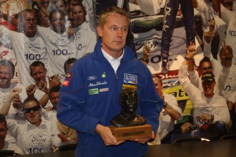 Jarmo Lehtinen was awarded the fourth annual Michael Park 'Beef' trophy