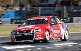 David Reynolds in his Bundaberg Red Racing Commodore VE