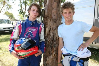 James Kovacic with Casey Stoner