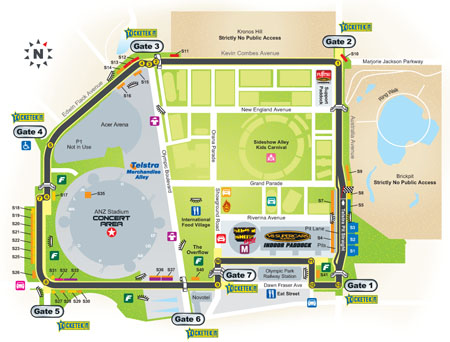 The track map for the Sydney Telstra 500