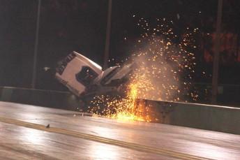 John Zappia's headline-making shunt at Willowbank Raceway