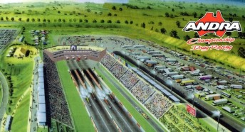 An artist's impression of ANDRA's state-of-the-art proposed drag racing facility for Melbourne