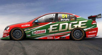 The side angle of the #51 Castrol EDGE Commodore VE that Greg Murphy will drive in 2010