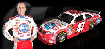 Marcos Ambrose will race in a roses-themed livery from new backer Kroger at the Daytona 500 next month - which happens to be on Valentine's Day