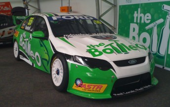 Paul Dumbrell's 2010 Ford Falcon was revealed at the Sydney Telstra 500 in December
