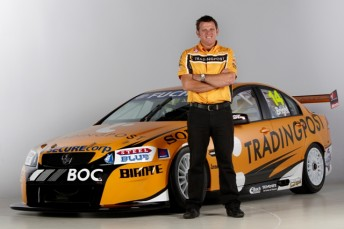 Jason Bright with his #14 Trading Post Racing Commodore VE