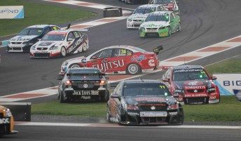 The start of any V8 Supercars race is always hectic –just like Race 2 at Yas Marina Circuit last week