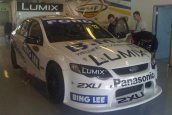 Dean Fiore's Ford Falcon FG will run with major support from Bing Lee and Panasonic