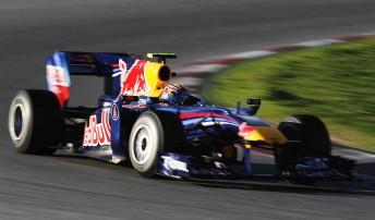 Mark Webber at Barcelona today