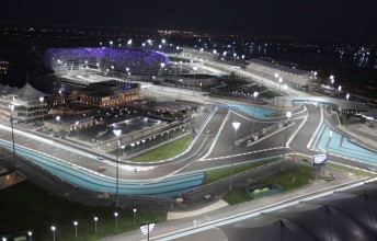 The Yas Marin Circuit from above during last weekend's V8 Supercars night race