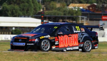 Jason Bargwanna edged out Kelly Racing team-mate on Day 1 of V8 Supercar competition at the first official test day today
