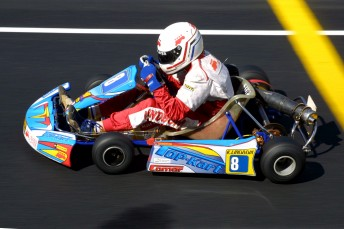 Kristian Lindbom charged from the back of the grid in the final of Junior Clubman to take the win. Pic: Paul Carruthers