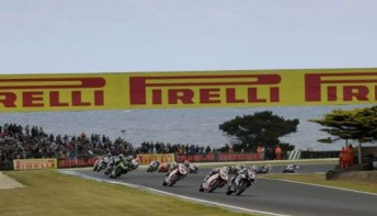 In front of over 50,000 spectators, the World Superbikes put on a great show