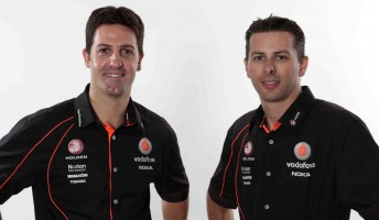 Jamie Whincup and Steve Owen will team up later this year in the #1 TeamVodafone Commodore VE