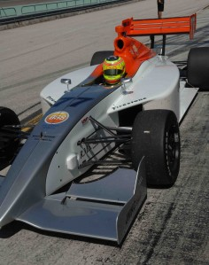 James Winslow drives the Sam Schmidt Indy Lights car at Homestead before inking his deal with the team for 2010
