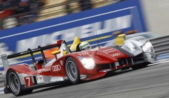 Allan McNish drives the new Audi R15 Plus to victory at Paul Ricard