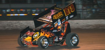 National Sprintcar Hall of Famer Jac Haudenschild was victorious at Knoxville Raceway