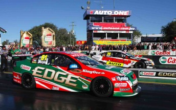 Greg Murphy won the V8 Supercars Challenge at Willowbank Raceway