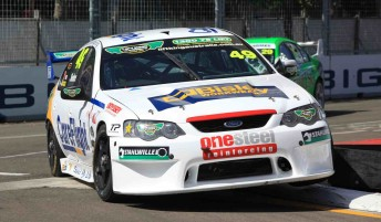 David Sieders in the Falcon that Colin is aiming to drive at Townsville next month