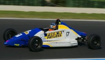 Josh Hunter in his Sonic Motor Racing Mygale at Phillip Island