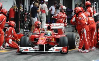 Felipe Massa at the German Grand Prix