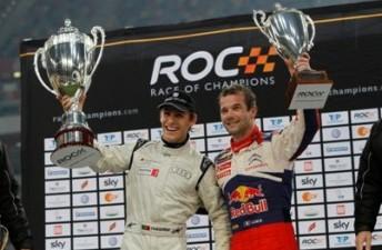 Portuguese driver Filipe Albuquerque with Sebastien Loeb