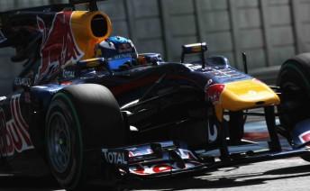 Daniel Ricciardo at the rookie F1 test at Abu Dhabi