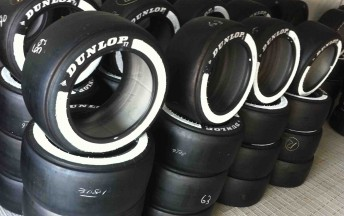 Dunlop's Sprint tyres will be more visible this weekend, thanks to larger white stripes