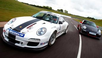 The 2011 Porsche 911 GT3 Cup race car