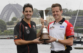 Jamie Whincup and James Courtney