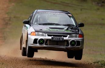 Penny Swan at Rally SA in 2003