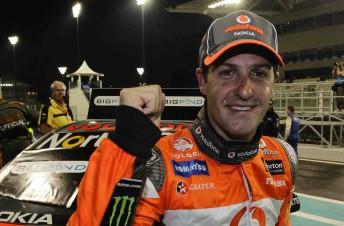 Jamie Whincup took victory in Race 1 in Abu Dhabi