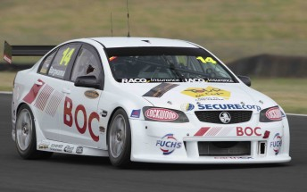 Jason Bargwanna's Commodore will race at Abu Dhabi in this bare colour scheme