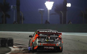 The V8 Supercars compete under lights at the Yas Marina Circuit. Will they flick on the switches at Queensland Raceway?