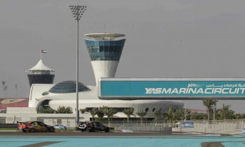 V8 Supercars have hit the Yas Marina Circuit today
