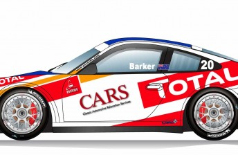 Artwork of Ben Barker's Carrera Cup entry