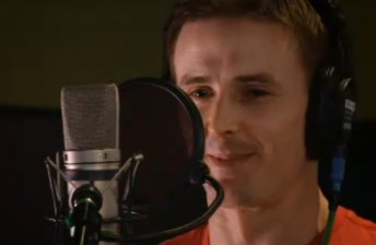 Mark Winterbottom in the studio recording his voice for Cars 2