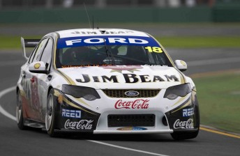 Jim Beam Racing's James Moffat at the Australian Grand Prix last weekend