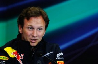 Team principal Christian Horner at the press conference