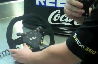James Moffat guides you through a V8 Supercars steering wheel
