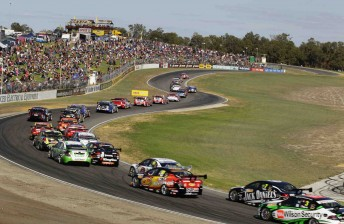 The V8 Supercars pack at Barbagallo Raceway