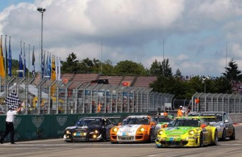 Porsche took its sixth N24 victory with its #18 entry