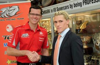Garth Tander with Walkinshaw Racing owner Ryan Walkinshaw