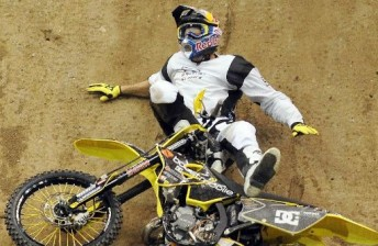 Pastrana failed to land one of his trademark 'TP rolls'