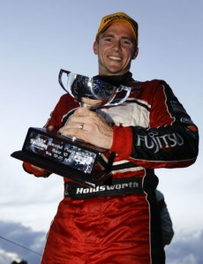 Lee Holdsworth after taking second place at Winton earlier this year