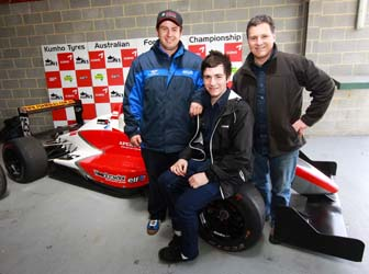 Tim Macrow with Lachlan Marshall and his father