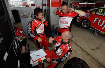 Michael Caruso, Lee Holdsworth and engineer Richard Hollway