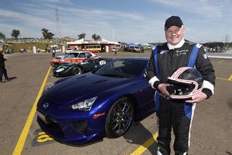 Alan Jones with the Lexus LFA Supercar
