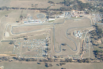 An aerial view of Winton Motor Raceway